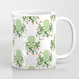 Festive Holiday Octopus Coffee Mug