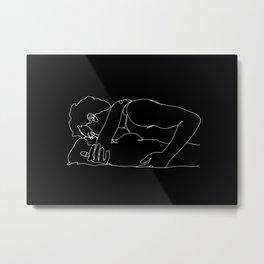 Straight Couple (black) Metal Print