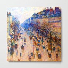 Camille Pissarro Boulevard Montmartre Winter Metal Print