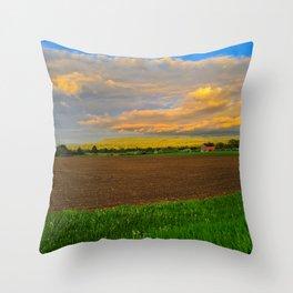 Stormy Farmland - Home Decor. Throw Pillow