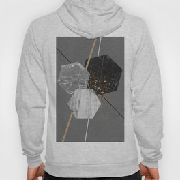 Marble Exagons and Gold Hoody