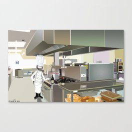 Corky the Cook Canvas Print