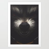 rocket raccoon Art Prints featuring ROCKET RACCOON by yurishwedoff
