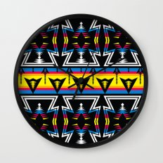 Large Native America inspired blanket print Wall Clock
