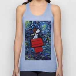 flying home snoopy Unisex Tank Top