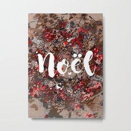 Couronne de Noël Metal Print