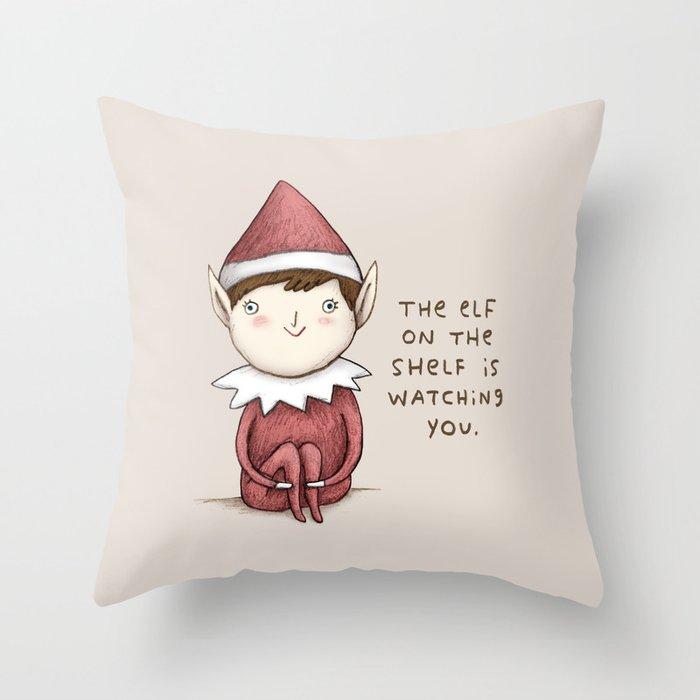 The Elf on The Shelf Throw Pillow