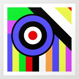 Bold Geometry - Abstract, Geometric, Retro Art Art Print