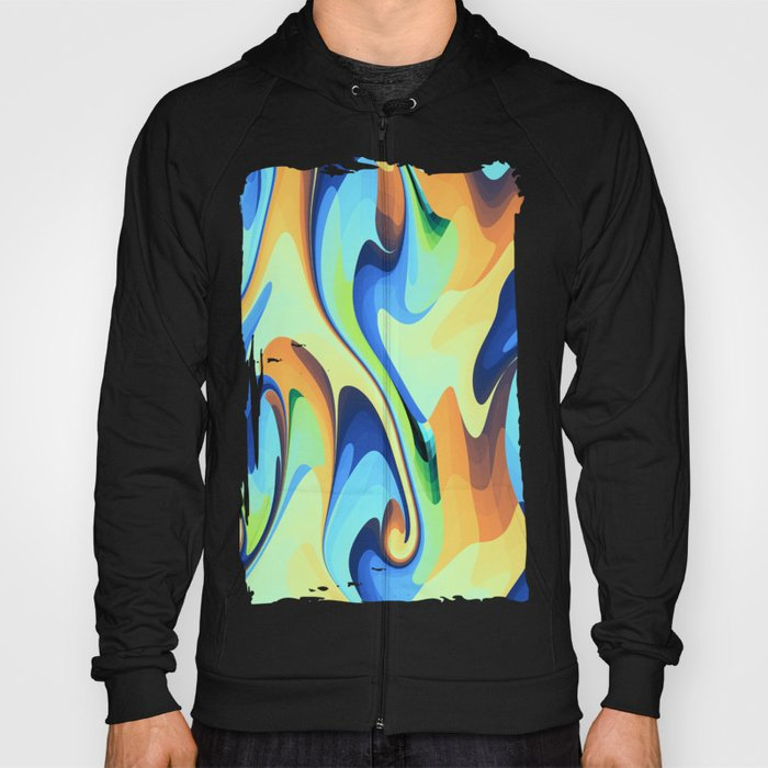 Color waves Water and Sun Hoody