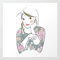 Lovely Girl Art Print