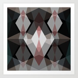 Rhombus Pattern Art Print