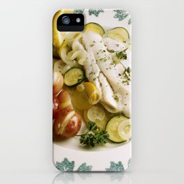 Baked Fish Dinner iPhone Case