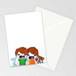 Weepy Twins Stationery Cards