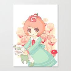 pixel cakeroll Canvas Print