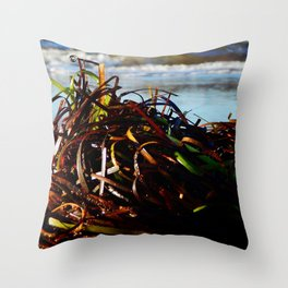Sea Grass on the Beach Throw Pillow