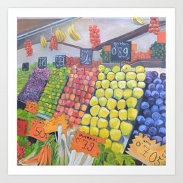 European Fruit Market Art Print