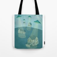 ufo Tote Bags featuring UFO by Banessa Millet