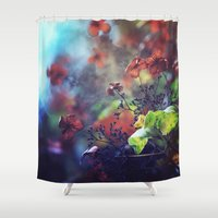 poetry Shower Curtains featuring Morning Poetry by Nikita Gill