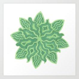 Emerald Flower Art Print