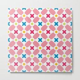 Holand Flower Garden Pattern Metal Print