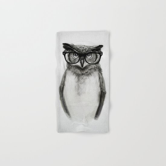 Mr. Owl Hand & Bath Towel