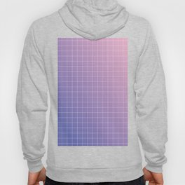 purple / pink - grid Hoody