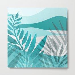 Turquoise Chroma Metal Print