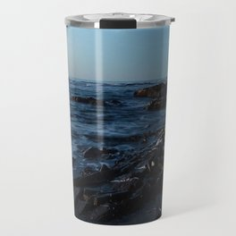 Sea Washes over the Rocks in Spring Travel Mug