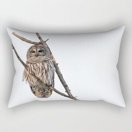 Barred Owl visitor on New Years Eve Rectangular Pillow