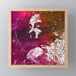 And Life Is Very Long   woman shadow graffiti painting Framed Mini Art Print
