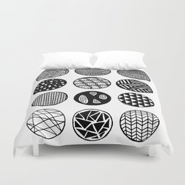 Simple Circle Patterns Collection Duvet Cover