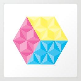 CYM Cube Art Print