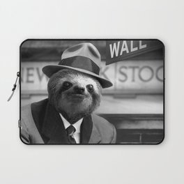 Sloth in Wall Street Laptop Sleeve