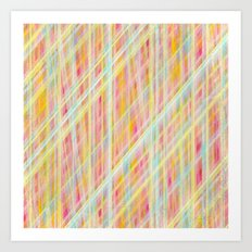 Dirty Colored Lines Art Print