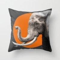 eric fan Throw Pillows featuring Wild 6 by Eric Fan & Garima Dhawan by Garima Dhawan
