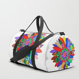 Mandala flower Veta Duffle Bag