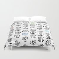 airbender Duvet Covers featuring Understanding Will Make You Become Whole by Estel