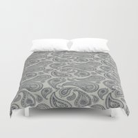 square Duvet Covers featuring square by CJ Beegle