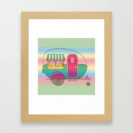 Happy Camper RV Camping Framed Art Print