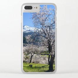 """Flowering Almonds"". At The Mountains Clear iPhone Case"