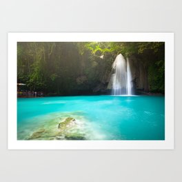 The Kawasan Falls, Cebu, Philippines Art Print