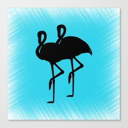 Blue Flamingo Canvas Print