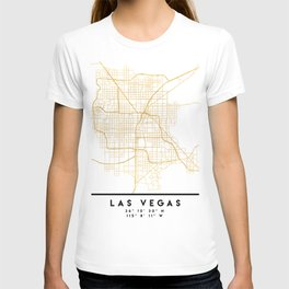 LAS VEGAS NEVADA CITY STREET MAP ART T-shirt