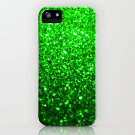 Sparkling Green Glitter iPhone Case
