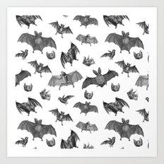 Batty Bats Art Print