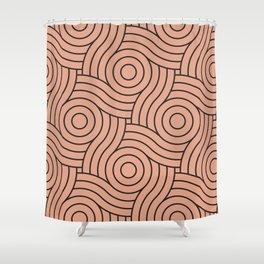 Circle Swirl Pattern Pastel Pink, Inspired By Pratt and Lambert Earthen Trail 4-26 Shower Curtain