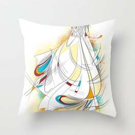 Royal bird Throw Pillow