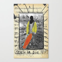 Skate or Die Street Art Collage Canvas Print