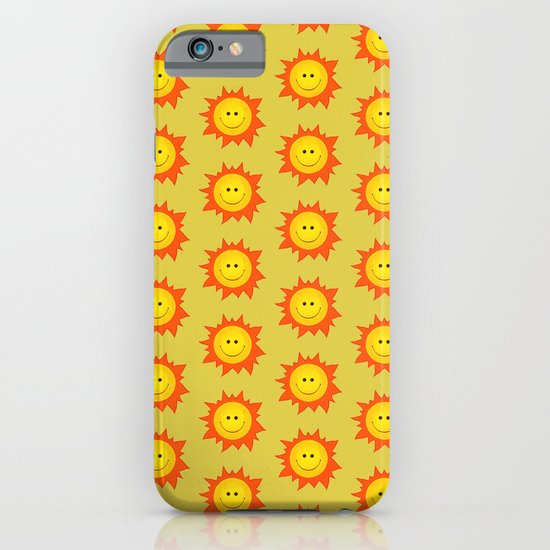 Happy Cartoon Sun Pattern iPhone & iPod Case