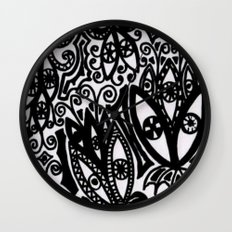 Flowers in the Rain Forest. Wall Clock